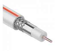Кабель коаксиальный PROconnect SAT 50 M, CCS/Al/Al, 75%, 75 Ом, бухта 100 м, белый