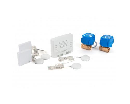 """Беспроводной комплект защиты от протечки воды AquaBast Квартира 1/2""""-RF"""