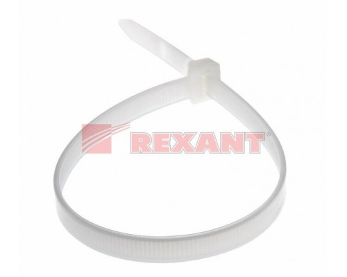 Хомут многоразовый 300 x 7, 5 мм 100 шт белый СКМ-300 REXANT