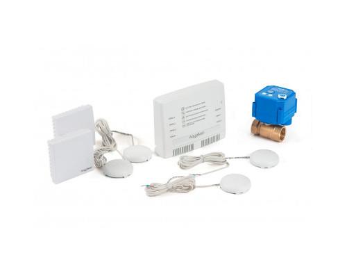 """Беспроводной комплект защиты от протечки воды AquaBast Коттедж 1""""-RF"""