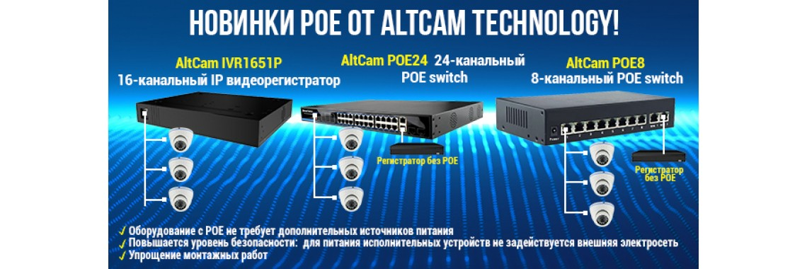 Новинки PoE от AltCam Technology!